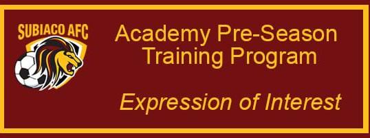 Subiaco AFC Academy Pre-Season Training Program